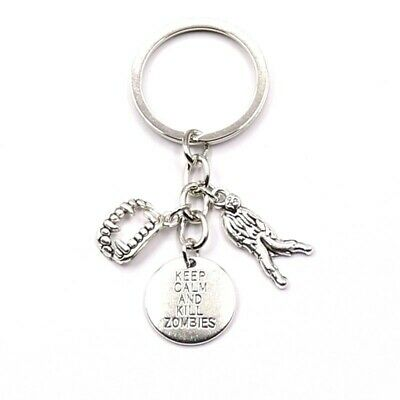 £3.99 • Buy Keep Calm And Kill Zombies Charms Keyring Key Chain Gift Bag The Walking Dead