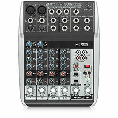 $ CDN119.36 • Buy Premium 8 Input 2 Bus Mixer With XENYX Mic Preamps/Compressors/British