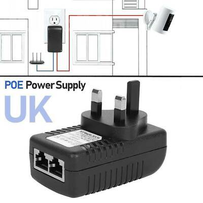 £8.65 • Buy POE Power Supply 48v 0.5A Injector Adapter Wall Power Over Ethernet CP UK Plug