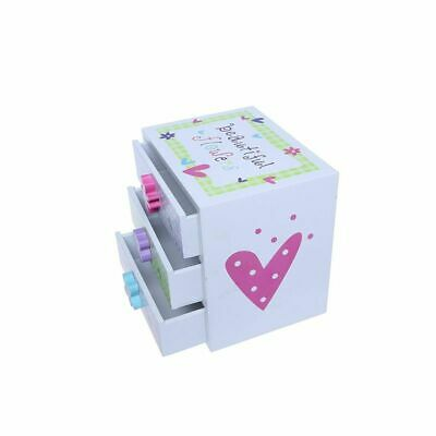 £51.59 • Buy Kids Jewelry Box - Colorful Flower Compartment Drawer - Square Accessories Box