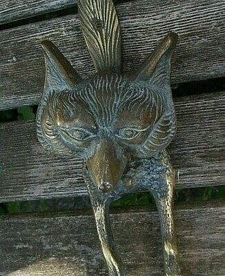 £25 • Buy Gorgeous But Uncleaned/9 Inch/solid Bass/fox/door Knocker