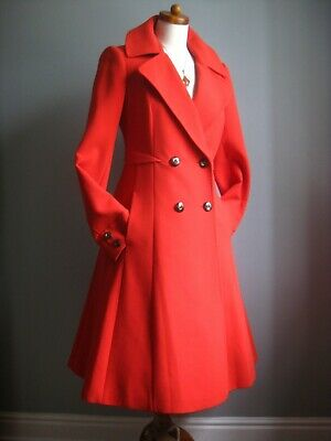 £159.99 • Buy JASPER CONRAN Red TRENCH COAT UK 10 8 Victorian Riding Fit Flare Mistress Frock