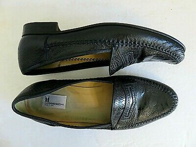 £72.03 • Buy Moreschi Shoes Genuine Crocodile Mens Penny Loafer Exotic Leather Size 12