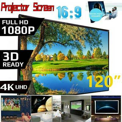 AU76.89 • Buy 120 Inch Projector Screen With Stand Home Pull Down Outdoor Screens Cinema 3D HD