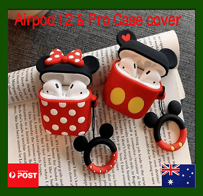 AU9.74 • Buy Compatible With IPhone Apple Airpod 1 2  Airpod Pro Case Silicon Mik Min Duck
