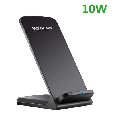 AU14.99 • Buy 10W Qi Wireless Charger Charging Stand Dock For Samsung S21+ Apple IPhone 12 11