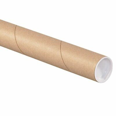 $86.67 • Buy Aviditi Kraft Mailing Tubes With Caps 1 1/2  X 15  Pack Of 50 For Shipping St...