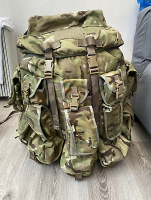 £100 • Buy MTP British Army SF Airborne Para Bergen With Extra Side And MOLLE Pouches