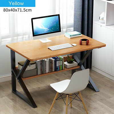 AU68.50 • Buy Computer Desk Table Study Home Office Student Wite Metal Workstation Storage