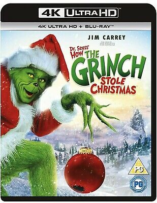 £17 • Buy DR SEUSS' HOW THE GRINCH STOLE CHRISTMAS 4K UHD + BLU-RAY NEW Ds8r