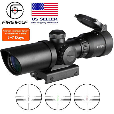 $136.96 • Buy Tactical Rifle Scope 1.5-5X32 Hunting .223 Angle Wide Military Sight Mounting US
