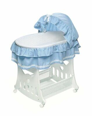 $140.09 • Buy Portable Rocking Baby Bassinet With Toybox Base Short Skirt And Pad