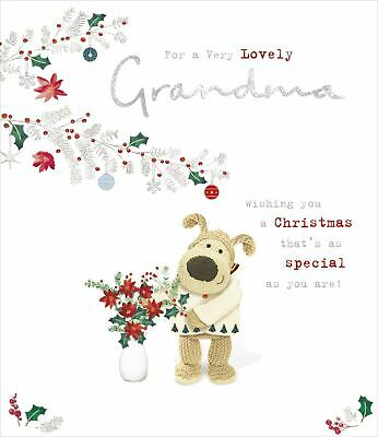 £3.95 • Buy Boofle For A Very Lovely Grandma Glitter Christmas Greeting Card Cute Xmas Cards