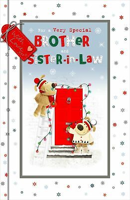 £4.95 • Buy Boofle For A Very Special Brother & Sister-In-Law Christmas Greeting Card Cute