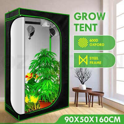 AU89.95 • Buy 90x50x160cm Grow Tent Hydroponic Plant Room System Reflective Indoor 600D Tent