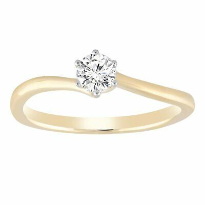 AU1699 • Buy Solitaire Ring With 0.33ct Diamond In 9K Yellow Gold