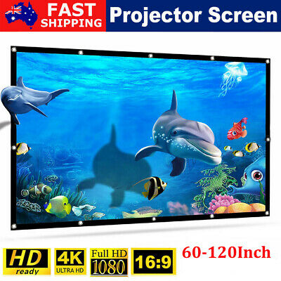 AU17.09 • Buy Portable Foldable 1080P HD Projector Screen 3D 16:9 Outdoor Home Cinema Theater