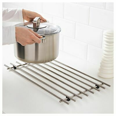 £4.99 • Buy Stainless Steel Cooking Rack Trivet Pot Pan Stand Hot Dishes Table Protector