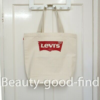 £21.95 • Buy Levis Canvans Tote Bag Red Batwing Logo With Vintage Effect Men's / Women's BNWT