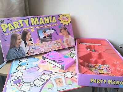 £29.99 • Buy Rare Vintage 1994 Party Mania Board Game Interactive VHS Video Tonka Parker