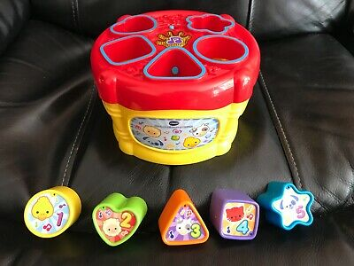 £3.49 • Buy VTech Sort And Discover Drum Shapes Sorter Music Songs Teaching Learning Baby