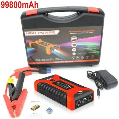 View Details 12V 99800mAh Car Jump Starter Portable Booster Rescue Pack Battery Power Charger • 35.99£