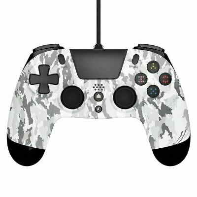AU26.10 • Buy CONTROLLER GIOTECK VX4 PREMIUM WIRED GAME PAD For PS4 + PC WHITE CAMO