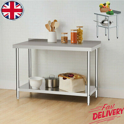 £84.59 • Buy Stainless Steel Commercial Catering Table Work Bench Kitchen Food Prep Top New