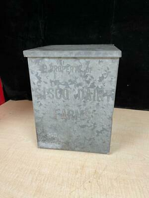 $40 • Buy Old Stoop Milk Box Embossed Dairy Egg Porch Delivery - Sisco Dairy Farms