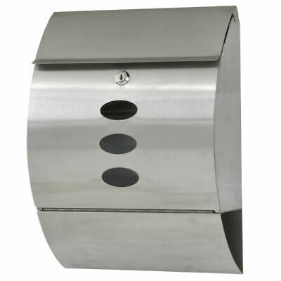 $31.99 • Buy Mail Box Post Letter Wall Mount Stainless Lockable Newspaper Storage With Key