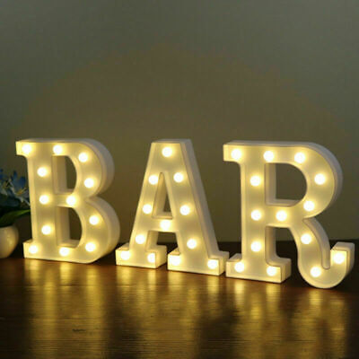 £6.89 • Buy LED Light Up Alphabet Letters Numbers Standing Sign For Home Bar Love Decor A-Z