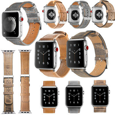 $ CDN17.59 • Buy 38mm-44mm Replacement Leather Band For Apple Watch Series 6 SE 5 4 3 2 1 Strap