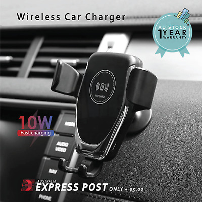 AU15.99 • Buy Wireless Car Charger Gravity Car Holder Mount For IPhone 12 Pro Max 11 XS XR X 8