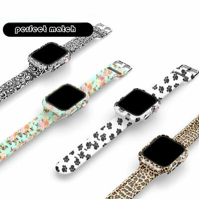 AU15.99 • Buy Watch Band Strap +Full Case For Apple Watch Series SE 6 5 4 3 2 38/40/42/44mm