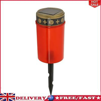 £6.83 • Buy Solar Power Grave Lawn Light Flameless Electronic LED Candle Lamp (Red)