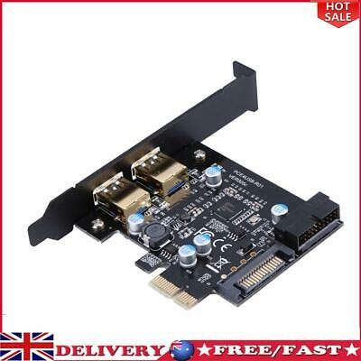 £12.31 • Buy PCI-E To USB 3.0 2 Port PCI Express Expansion Card 19-Pin Power Connector