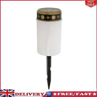 £6.83 • Buy Solar Power Grave Lawn Light Flameless Electronic LED Candle Lamp (White)
