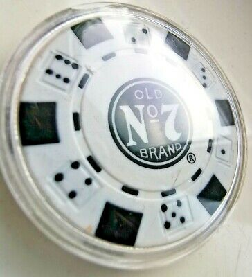 £2.50 • Buy Jack Daniels No 7 Poker Chip In Collectors Case!white.collectible And Rare Item
