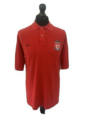 £7.99 • Buy Mens Adidas Liverpool Fc Red Polo T-shirt Uk Large
