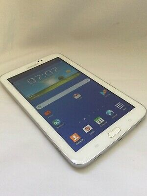£37 • Buy WHITE SAMSUNG GALAXY TAB 3 7 INCH ANDROID TABLET CHECK OUR 99p AUCTIONS