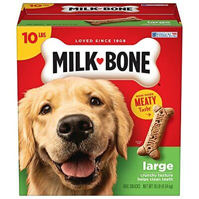 $17.51 • Buy Milk-Bone Dog Treats Biscuits For Large Dogs, Tasty Treats Meaty Taste 10 Pounds