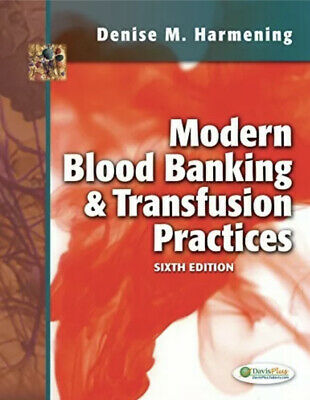 £25.65 • Buy Modern Blood Banking & Transfusion Practices By Denise M Harmening Book The Fast