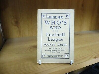 £19.95 • Buy Athletic News Who's Who In The Football League Pocket Guide (1927/28)