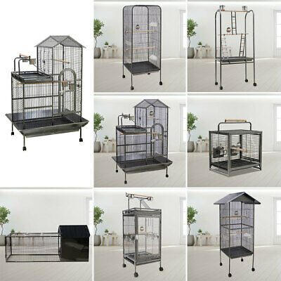 £55.95 • Buy Large Bird Cage Parrot Metal Cage Play Stand Budgie Canary Finch Cockatoo Aviary