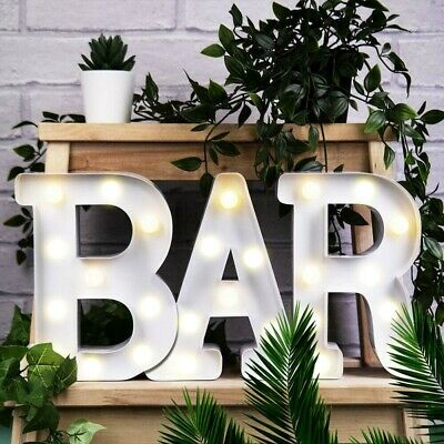 £11.49 • Buy BAR LED Light Up Alphabet Letters Numbers Standing Sign For Love Decor Plaques