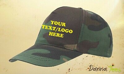 £3.15 • Buy CAMOUFLAGE Baseball Cap Delivery Unisex 100% Cotton Twill Size Adjustable
