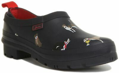£37.95 • Buy Joules Pop On Womens Slip On Welly Clogs With Dog Print In Navy UK Size 4 - 8