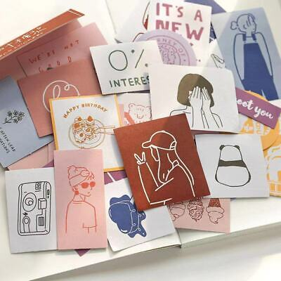 AU3.29 • Buy 60pcs Paper Stickers Decors Stationery Bullet Journal Japanese Style Gift Book