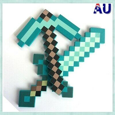 AU24.53 • Buy Real For Minecraft Game Large Toys Diamond Sword Pickaxe EVA Weapons Kids Gift