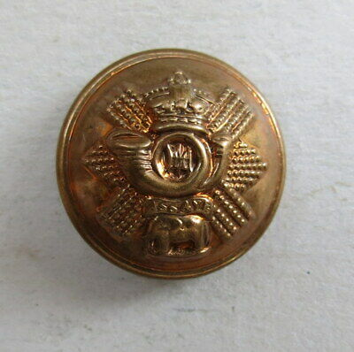 £2 • Buy Military  Brass 20 Mm. QVC Button Highland Light Infantry British Army